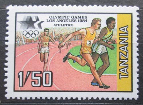 Poštovní známka Tanzánie 1984 LOH Los Angeles, bìh Mi# 243