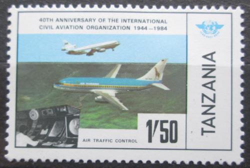 Poštovní známka Tanzánie 1984 Dopravní letadla Mi# 247
