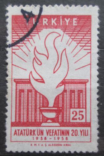 Poštovní známka Turecko 1958 Atatürkovo mauzoleum Mi# 1615