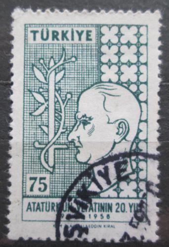 Poštovní známka Turecko 1958 Kemal Atatürk Mi# 1616