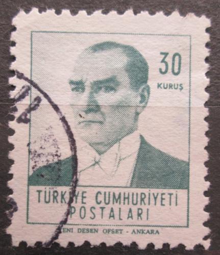 Poštovní známka Turecko 1961 Prezident Kemal Atatürk Mi# 1818