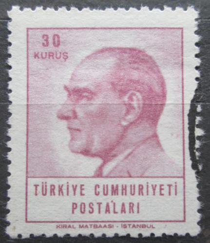 Poštovní známka Turecko 1965 Prezident Kemal Atatürk Mi# 1932
