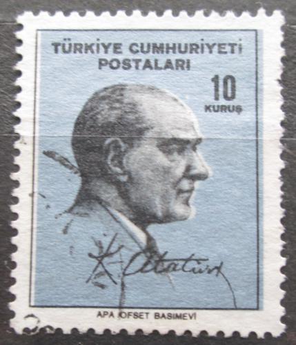 Poštovní známka Turecko 1965 Prezident Kemal Atatürk Mi# 1978