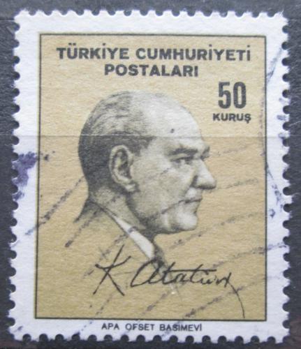Poštovní známka Turecko 1965 Prezident Kemal Atatürk Mi# 1979