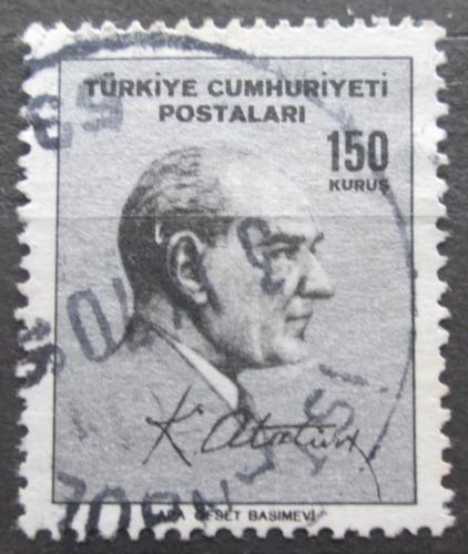 Poštovní známka Turecko 1965 Prezident Kemal Atatürk Mi# 1980