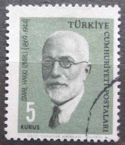 Poštovní známka Turecko 1964 İsmail Hakkı İzmirli, vìdec Mi# 1904