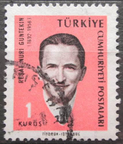 Poštovní známka Turecko 1966 Reºat Nuri Güntekin, spisovatel Mi# 1981