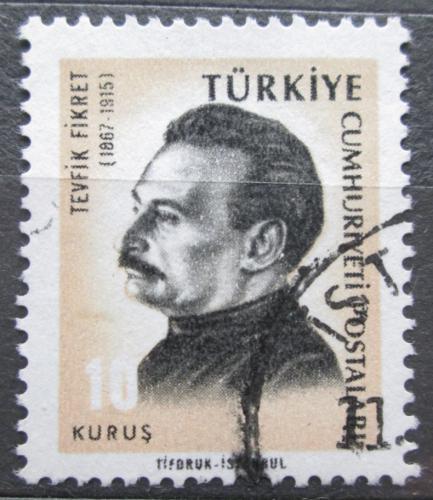 Poštovní známka Turecko 1966 Tevfik Fikret, básník Mi# 1983