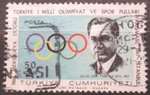 Poštovní známka Turecko 1967 Selim Sırrı Tarcan, Olympijský výbor Mi# 2061
