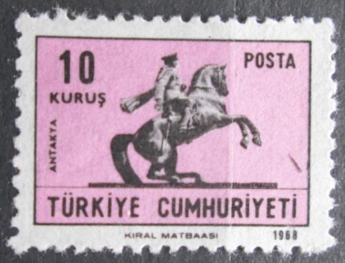 Poštovní známka Turecko 1968 Atatürk na koni, Antakya Mi# 2113