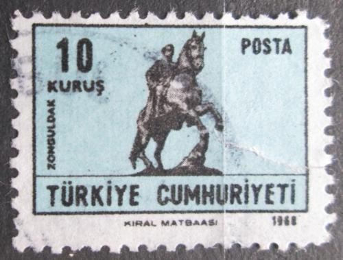 Poštovní známka Turecko 1968 Atatürk na koni, Zonguldak Mi# 2114