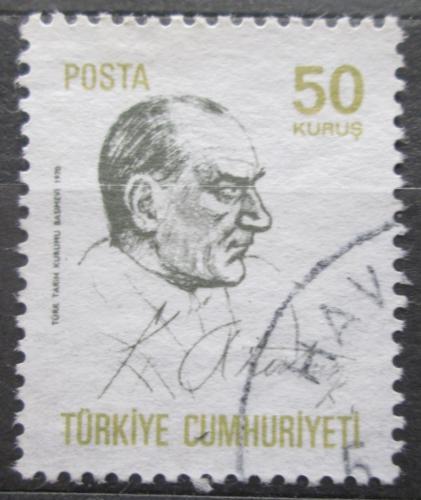 Poštovní známka Turecko 1970 Prezident Kemal Atatürk Mi# 2164