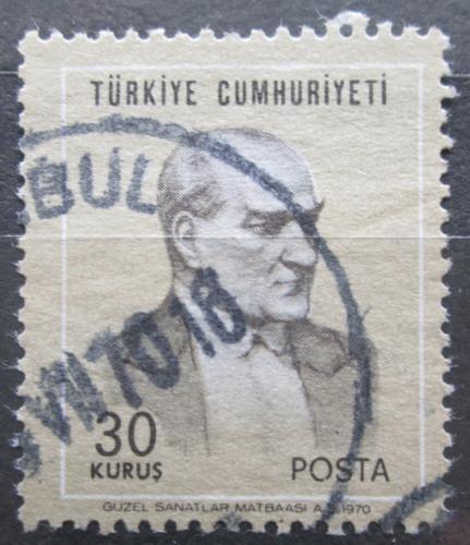 Poštovní známka Turecko 1970 Prezident Kemal Atatürk Mi# 2169
