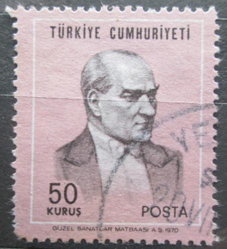 Poštovní známka Turecko 1970 Prezident Kemal Atatürk Mi# 2170