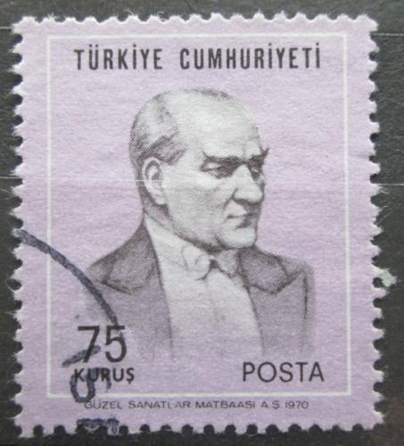 Poštovní známka Turecko 1970 Prezident Kemal Atatürk Mi# 2171