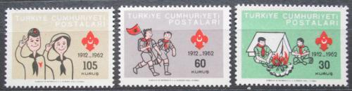 Poštovní známky Turecko 1962 Skauti Mi# 1837-39