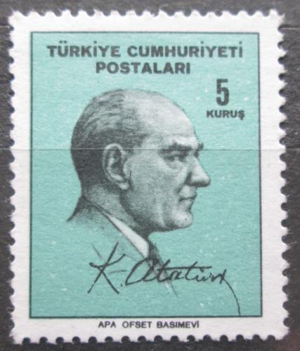 Poštovní známka Turecko 1965 Prezident Kemal Atatürk Mi# 1977