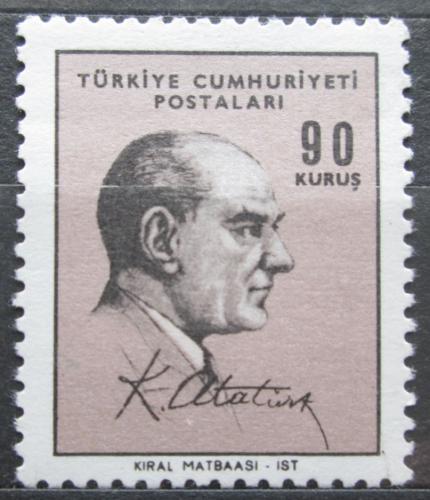 Poštovní známka Turecko 1966 Prezident Atatürk Mi# 2030