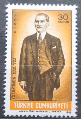 Poštovní známka Turecko 1968 Prezident Atatürk Mi# 2108