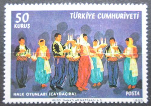Poštovní známka Turecko 1969 Lidový tanec Mi# 2148