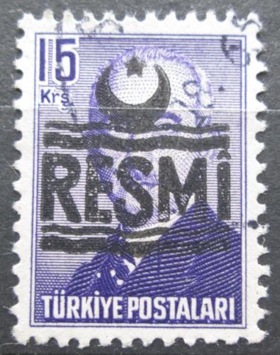 Poštovní známka Turecko 1955 Prezident Atatürk pøetisk, úøední Mi# 31