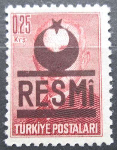 Poštovní známka Turecko 1953 Atatürk pøetisk, úøední Mi# 17