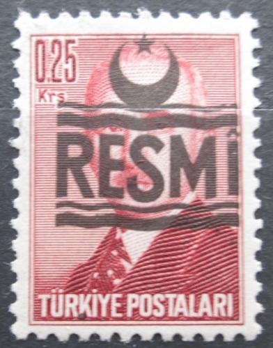 Poštovní známka Turecko 1955 Atatürk pøetisk, úøední Mi# 25