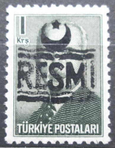 Poštovní známka Turecko 1955 Atatürk pøetisk, úøední Mi# 26