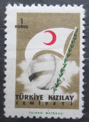 Poštovní známka Turecko 1957 Vlajka, daòová Mi# 223