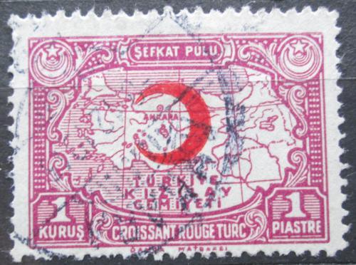 Poštovní známka Turecko 1934 Mapa, daòová Mi# 28
