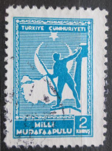 Poštovní známka Turecko 1941 Voják pøed mapou, daòová Mi# 62
