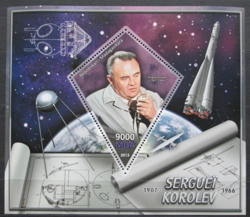 Poštovní známka Madagaskar 2013 Sergej Koroljov, raketový inženýr Mi# N/N