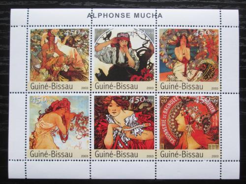 Poštovní známky Guinea-Bissau 2003 Umìní, Alfons Mucha Mi# 2549-54 Kat 10€