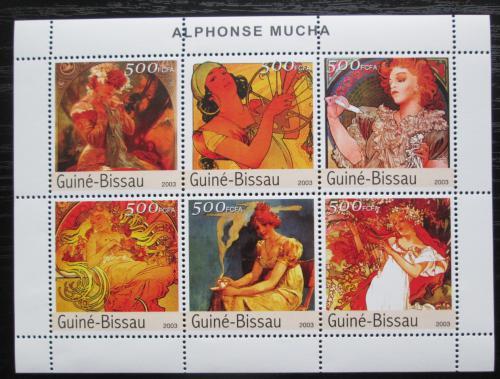 Poštovní známky Guinea-Bissau 2003 Umìní, Alfons Mucha Mi# 2555-60 Kat 13€