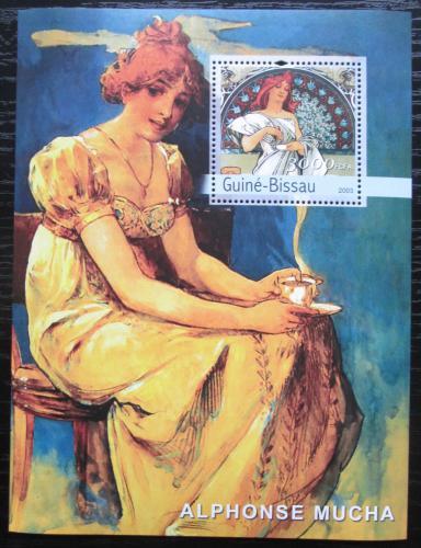 Poštovní známka Guinea-Bissau 2003 Umìní, Alfons Mucha Mi# Block 440 Kat 16€