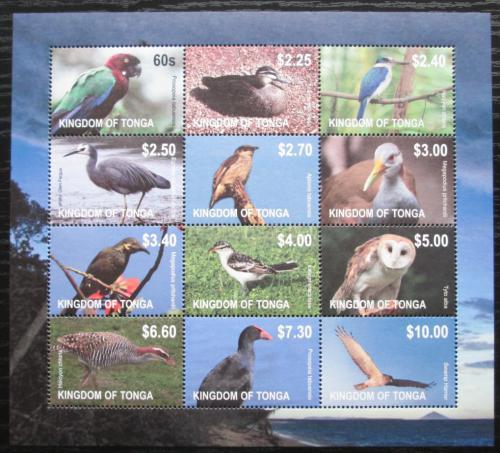Poštovní známky Tonga 2012 Ptáci TOP SET Mi# 1754-65 Bogen Kat 60€