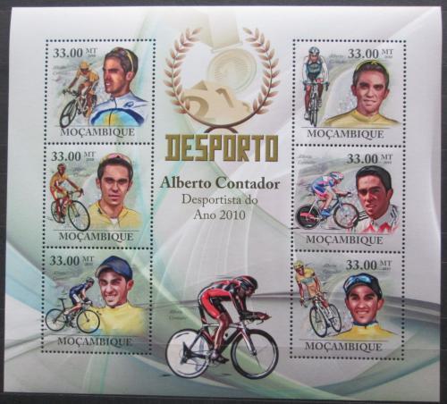 Poštovní známky Mosambik 2010 Slavní cyklisti Mi# 3731-36 Kat 10€