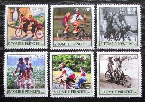 Poštovní známky Svatý Tomáš 2003 Cyklistika Mi# 2181-86 Kat 11€