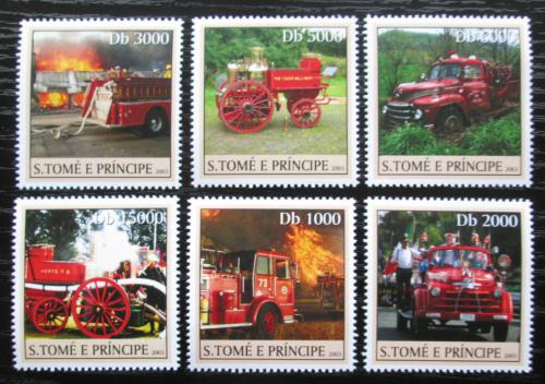 Poštovní známky Svatý Tomáš 2003 Hasièská auta Mi# 2271-76 Kat 11€