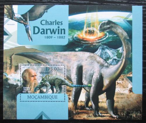 Poštovní známka Mosambik 2012 Charles Darwin a dinosauøi Mi# Block 647 Kat 10€