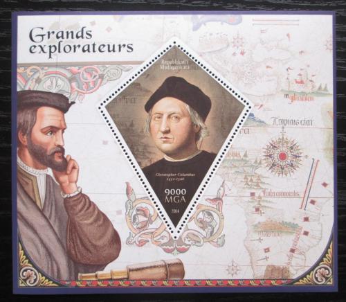 Poštovní známka Madagaskar 2014 Kryštof Kolumbus Mi# N/N