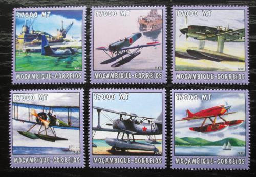 Poštovní známky Mosambik 2002 Letadla Mi# 2572-77 Kat 12€