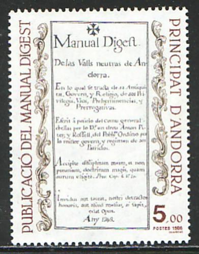 Poštovní známka Andorra Fr. 1986 Manual Digest Mi# 373