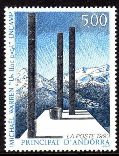 Poštovní známka Andorra Fr. 1993 Umìní, Michael Warren Mi# 460
