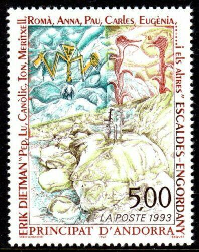 Poštovní známka Andorra Fr. 1993 Umìní, Erik Dietman Mi# 461