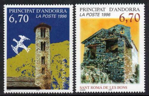 Poštovní známky Andorra Fr. 1996 Románské kaple Mi# 503-04