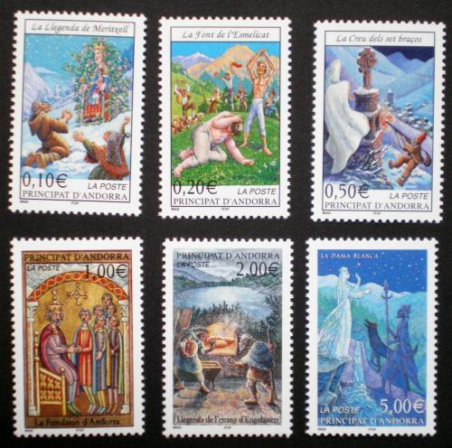 Poštovní známka Andorra Fr. 2002 Legendy Mi# 580-85 Kat 20€