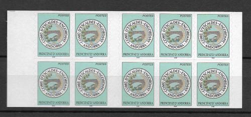 Sešitek Andorra Fr. 2003 Znak Escaldes-Engordany Mi# MH 12 Kat 16€