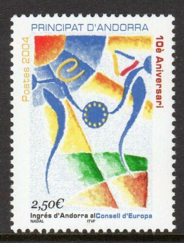 Poštovní známka Andorra Fr. 2004 Èlenství v Evropské radì, 10. výroèí Mi# 623