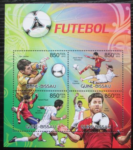 Poštovní známky Guinea-Bissau 2012 Slavní fotbalisti Mi# 6140-43 Kat 14€